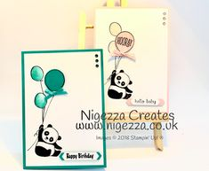 Nigezza Creates: Stampin' Up!® Party Pandas New Baby Card