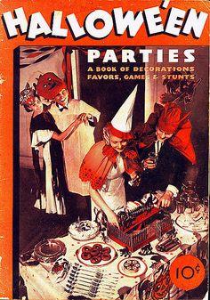 Vintage Halloween Book ~Dennison's Hallowe'en Parties ©1934
