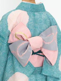 籠牡丹 半巾帯・ピンク | DOUBLE MAISON