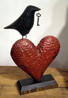 Raven & Heart by Dancing Eye Gallery, via Flickr
