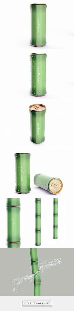 Bamboo Juice packaging design concept by Marcel Sheishenov - http://www.packagingoftheworld.com/2017/07/bamboo-juice-concept.html - created via https://pinthemall.net