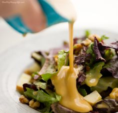 Three Ingredient Honey Mustard Dress and Sauce - vegan and super delicious!