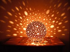 Tischlampen - Leuchtkugel,Lampe mit vielen Löchern,Namenslampe, - ein Designerstück von Namenslampen bei DaWanda