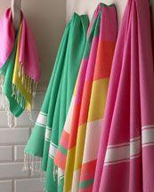 """bright fouta"" towels"