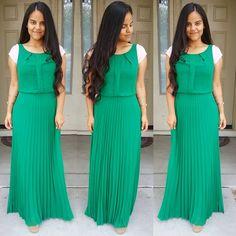 Green Dress   #dress #vestido #ootd #sundaybest #outfit #maxi #pleats #pleated #greekgoddess #inspiration