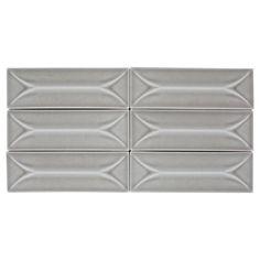 Villa Heirloom Pewter Porcelain Tile - 3in. x 9in. - 100287838 | Floor and Decor