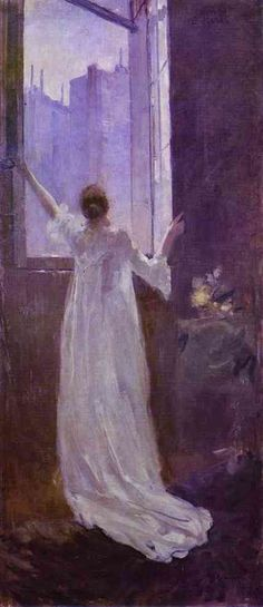 At the Window - Constantin Korovin 1893 The Lvov Piicture Gallery,Lvov Ukrainie