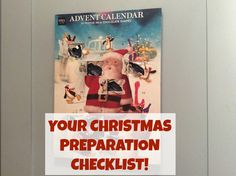 Handy checklist for Christmas Preparation - when you don't know where to start...!