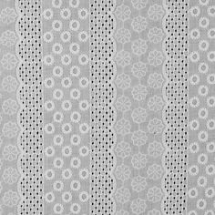Mood presents a lightweight embroidered cotton eyelet adorned with floral embroidery and white geometric shapes within scalloped stripes. This cotton fabric is simply amazing! Lightweight and fairly sheer with minimal give, it is great for the spring and Embroidery Fabric, Hand Embroidery Designs, Floral Embroidery, Samba, Buy Fabric, Cotton Fabric, Bridal Fabric, Mood Fabrics, Fashion Fabric