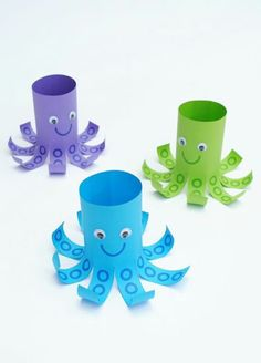 Creative and Fun Toilet Paper Roll Crafts Kids Will Love Making This! Creative and Fun Toilet Paper Roll Crafts Kids Will Love Making This! - Creative ideas about paper crafts. Creative paper crafts for kids! Ocean Crafts, Vbs Crafts, Preschool Crafts, Octopus Crafts, Party Crafts, Seashell Crafts, Beach Crafts, Nature Crafts, Decor Crafts