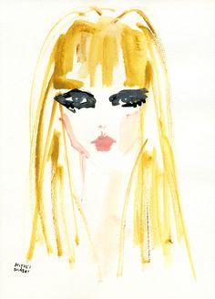 """""""Candice Swanepoel: Vogue Italia, March '12"""" キャンディス・スワンポールのバングス(前髪)スタイルが新鮮! 女性はメイクとヘアースタイルでガラリと変わりますね~。モード感MAXなキャンディス、カッコイイ。"""