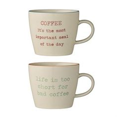 Carla coffee cup with text 2-pack from Bloomingville by Bloomingville
