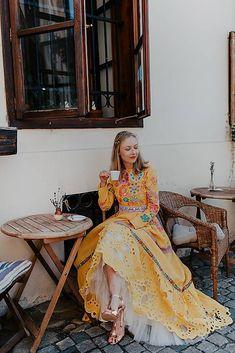žlté madeirové šaty Poľana / JaroslavaWurllKocanova - SAShE.sk