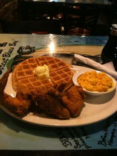 And people generally rave about the chicken and waffles at Miss Polly's Soul Cafe on Beale. They have a cute sign too!! hhttp://misspollysmemphis.com/  image from tiffanytastes.com