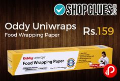 Shopclues is offering 20% off on Oddy Uniwraps Food Wrapping Paper at Rs.159 Only. 11 X 20 Mtrs., A multi-purpose food grade paper ideal for wrapping your everyday meals like paranthas, rotis, burgers, sandwiches & many more.  http://www.paisebachaoindia.com/oddy-uniwraps-food-wrapping-paper-at-rs-159-only-shopclues/