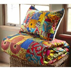 Ghanaian Duvet Set - Produced by an arts-based women's cooperative in Ghana, sales of our Ghanian Duvet set contribute to fair trade practices and free HIV/AIDS education, prevention, testing and links to treatment for thousands of men, women and youth in Decor, Soft Furnishings, Duvet Sets, Interior, African Home Decor, Duvet, Home Decor, Pillows, African Inspired Decor