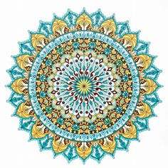 """Warm Soul"" printable mandala coloring page. Colored by Tamila K"