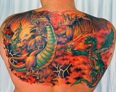 Hannah Aitchison dragon back tat