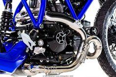 """Racing Cafè: Ducati Scrambler """"AL13 Blue"""" by Moto Puro"""