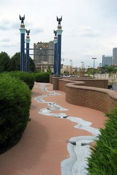 Sawyer Point in Cincinnati (the flying pigs!)- Kayla and I loved this place when we were younger.