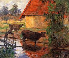 Watering place, 1885 - Paul Gauguin - WikiArt.org