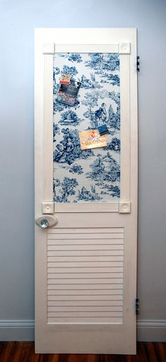 Pittsburgh Upcycled Repurposed Door Turned Blue by Restartistry, $189.00 Check with April...I have everything to do this but the door