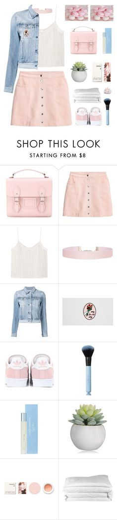 """Girly"" by dianakhuzatyan ❤ liked on Polyvore featuring The Cambridge Satchel Company, H&M, MANGO, Humble Chic, 3x1, Rosehound, adidas Originals, Dolce&Gabbana, Korres and Frette"