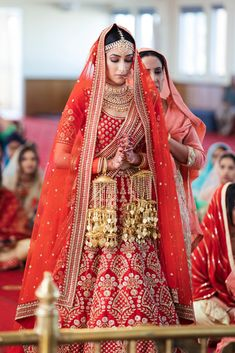 A Festive Punjabi Wedding in Sydney with a Sabyasachi Bride. Karen looked sublime in a classic Sabyasachi lehenga. Sabyasachi Lehenga Bridal, Indian Bridal Lehenga, Indian Bridal Fashion, Pakistani Bridal Wear, Punjabi Wedding, Punjabi Bride, Sikh Wedding, Pakistani Dresses, Party Wedding