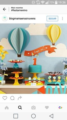 Related Image - New Deko Sites Balloon Birthday Themes, Diy Birthday Decorations, Balloon Decorations, Baby Boy Birthday, 2nd Birthday Parties, Baby Birthday, Diy Bebe, Baby Shower Balloons, 1st Birthdays