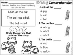 Reading Comprehension Passages For Beginning Readers (Mult