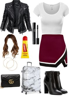 Teen Fashion Outfits, Stylish Outfits, Girl Outfits, Womens Fashion, Fashion Tips, Shadowhunters Outfit, Airport Chic, Outfit Maker, Other Outfits