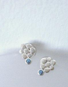 Sterling Silver Earrings Flower Earrings Post by LaSe on Etsy
