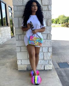 Image may contain: 1 person, standing, shoes and outdoor Cute Swag Outfits, Chill Outfits, Dope Outfits, Summer Outfits, Black Outfits, Fashion Killa, Ootd Fashion, Girl Fashion, Fashion Outfits