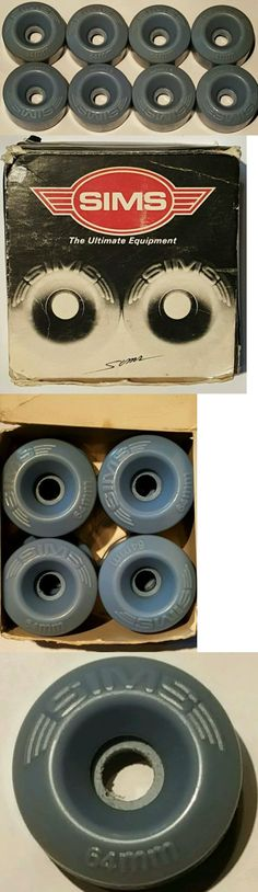 Skate Parts and Tools 159063: Vintage 80 S Original Roller Skate (8) Blue Sims Conical Wheels 64Mm 88A -> BUY IT NOW ONLY: $75.88 on eBay!