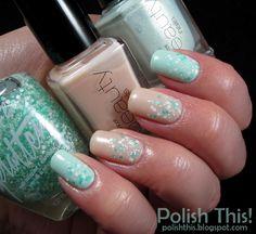 Polish This!: Mint & Nude Glitter Gradient