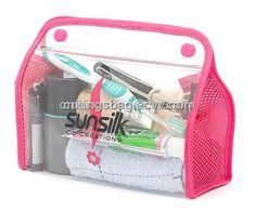 Unique Design Fashion Beauty Pink Clear PVC Cosmetic Bag,Travel ...