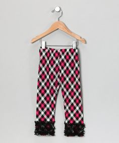Take a look at this Raspberry & Black Plaid Leggings - Infant, Toddler & Girls by Oopsy Daisy Baby on #zulily today!