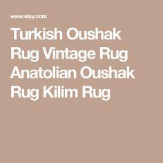 Turkish Oushak Rug Vintage Rug Anatolian Oushak Rug Kilim Rug