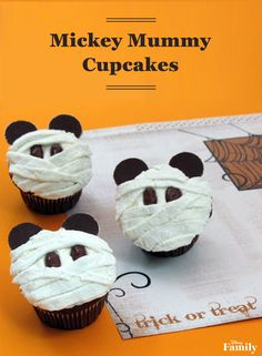 No Halloween party menu is under wraps until you bake these Mickey Mummy Cupcakes! Just follow a super simple recipe for a delicious Disney treat (no tricks necessary!)