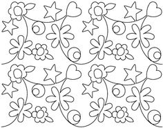 Blossoming Quilts - Designs - Edge-to-Edge (2¢ per sq. inch)
