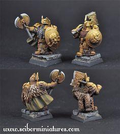 Golden Guard Set 2 - Fantasy Miniatures 28mm (x2 figs)