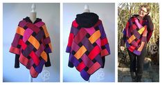 Ponchos are the perfect all-weather clothing item. This poncho is full of color and has an interesting woven look. You can use Celtic Poncho Free Crochet Pattern to extend your wardrobe withthis beauty in bold colors or opt for something neutral in shades of earth tones.