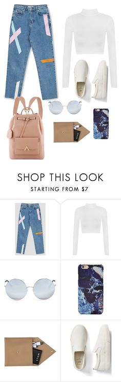 """""""School or Casual"""" by kpescobar ❤ liked on Polyvore featuring WearAll, Matthew Williamson, Forever 21, STOW and Gap"""
