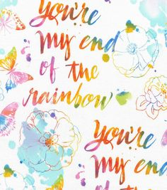 Novelty Cotton Fabric-End Of The Rainbow