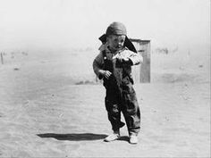 A bad drought in the 30s teamed with bad farming practices to turn 150,000 sq. miles of the Great Plains into the Dust Bowl. In 1935, many families called it quits and caravanned west. By decade's end, California's population had grown by 22%. Meanwhile, federal workers were teaching the farmers who had stayed behind better techniques for conserving topsoil.