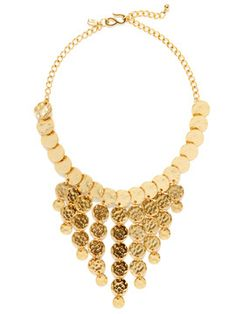 Gold Multi-Disc Bib Necklace from Necklaces & Pendants on Gilt