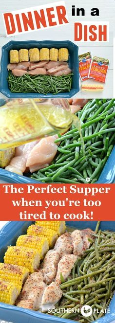 Dinner In A Dish – The Perfect Supper When You're Too Tired To Cook! ~ #easy #recipes #maindish #chicken #onepan