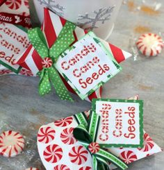 candy cane seeds made with pebblesinc home for christmas collection by ribbonsandglue pillow box - Christmas Craft Ideas Pinterest