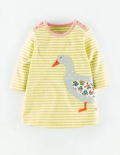 Stripy Appliqué Jersey Dress: a goose for the goose!!