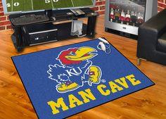 Collegiate University of Kansas Man Cave All-Star Area Rug